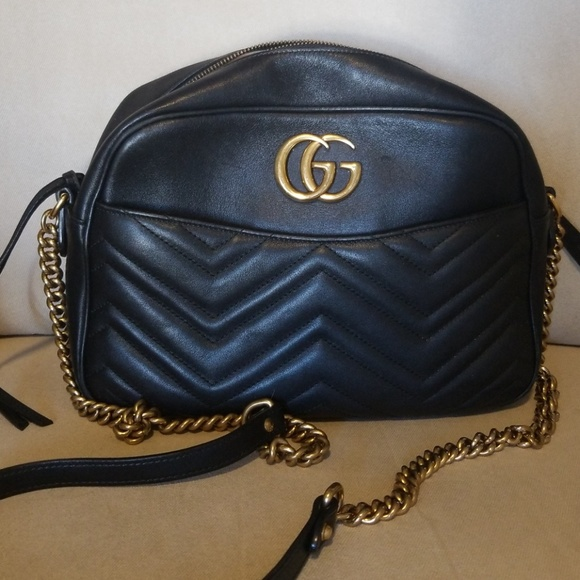 1def4a01094f Gucci Handbags - Gucci Marmont satchel with gold chain.